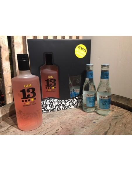 Gaveæske - Gin 13 Raspberry og Tonicvand