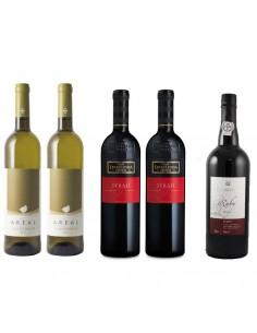 Julesæt - 2 hvidvine, 2 rødvine og 1 portvin