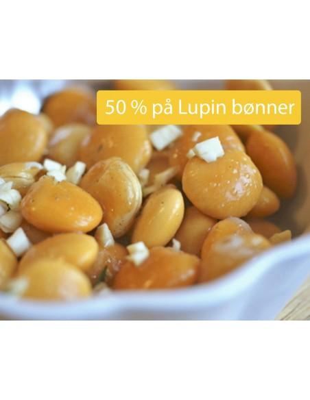 Lupin bønner i lage af olivenolie