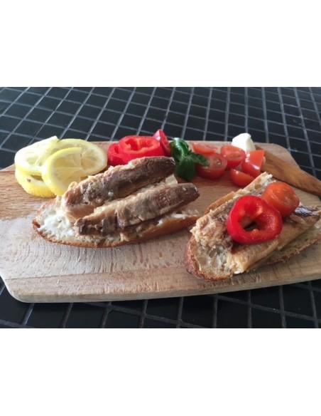 Sardiner i olivenolie, uden skind og ben
