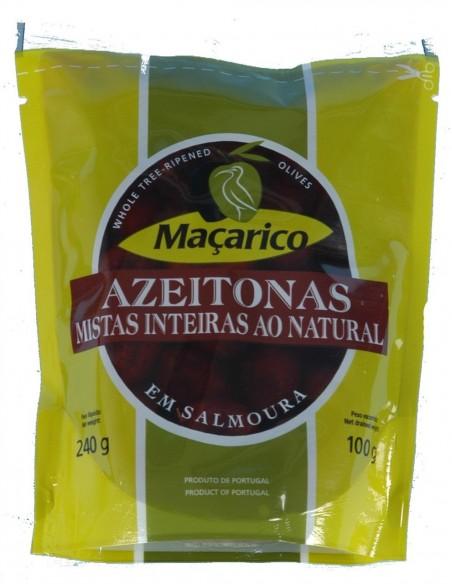 Macarico blandet oliven med sten, let modnet
