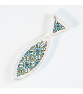 Olivenskål - Azulejo, blå