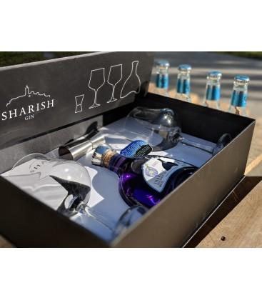 Eksklusiv gin gavekasse - Magic Blue Sharish