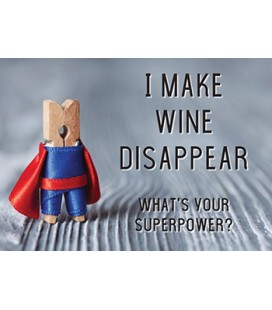 "Postkort - ""I make wine disappear....."""