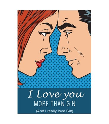 "Postkort - ""I Love You - More than Gin.."""