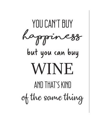"Postkort - ""Wine and happiness"""