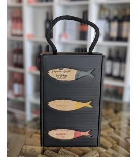 Gaveæske med 3 x Sardiner på dåse - Campos Santos