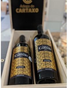 Vingave med 2 rødvine i trækasse- Adega da Cartaxo