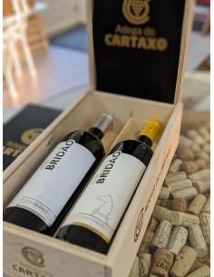 Luksus vingave, med 2 vine fra Adega da Cartaxo