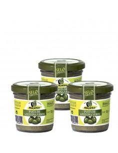 3 x Tapenade af grønne oliven