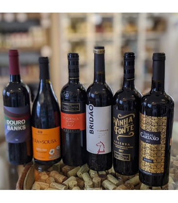 Rødvinskasse 1 - Blandet Portugisiske vine