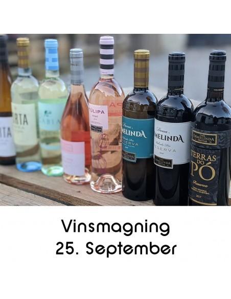 Vinsmagning og tapas, Aalborg - 25. septemberil 2020