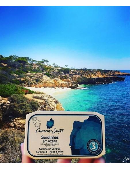 Sardiner i olivenolie, i kork indpakning - Campos Santos