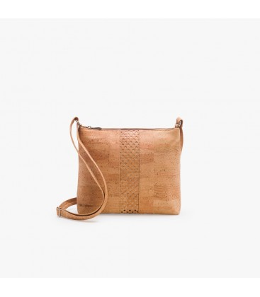 Håndtaske af kork - Sort/Natur med mønster