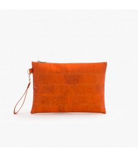 Clutch Taske af kork - Orange