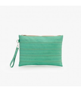 Clutch Taske af kork - Aqua