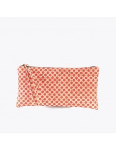 Lille Clutch Taske af kork - Natur / Rød
