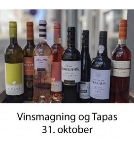 Vinsmagning og tapas, Aalborg - 31. oktober 2020