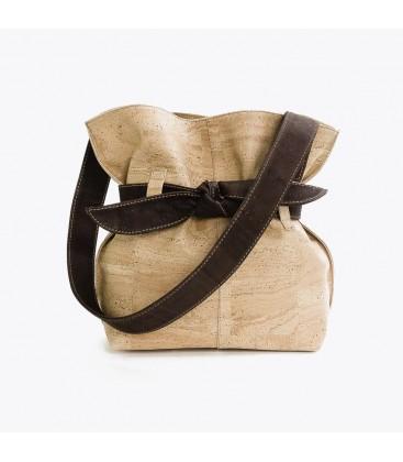 Kork Taske med sløjfe - Natur / Brun