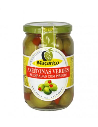 Grønne oliven med hele Piri Piri chili - Maçarico
