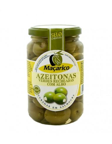 Store grønne oliven fyldt med hvidløg - Maçarico