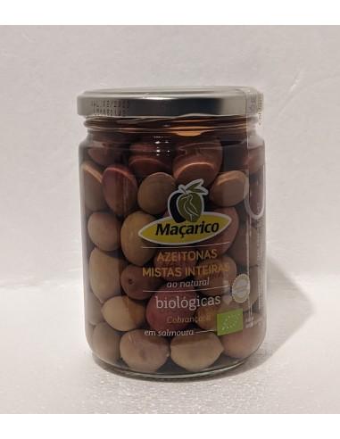 Økologisk blandet modnet oliven med sten