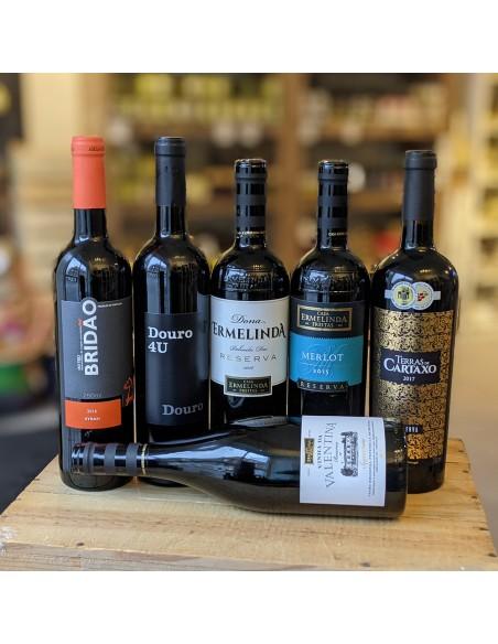 Rødvinskasse - 6 vine