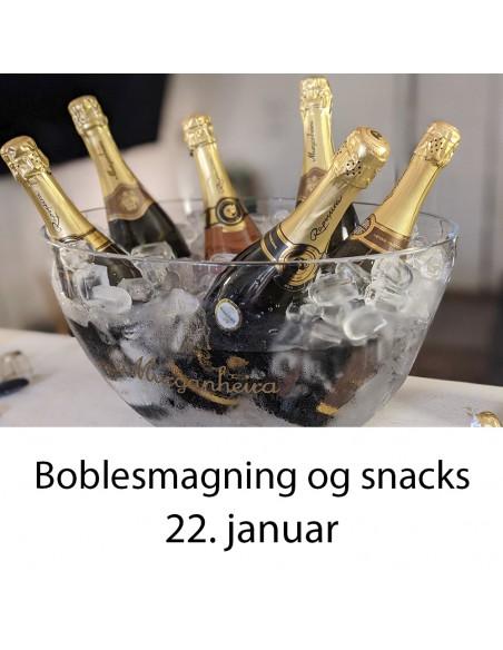 Boblesmagning og snacks, Aalborg  - 22. januar