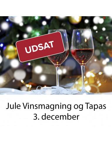 UDSAT Jule vinsmagning og tapas,...