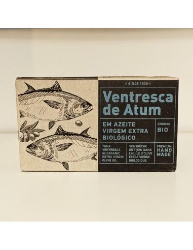 """Tunbug """"Ventresca"""" i økologisk ekstra jomfru olivenolie"""
