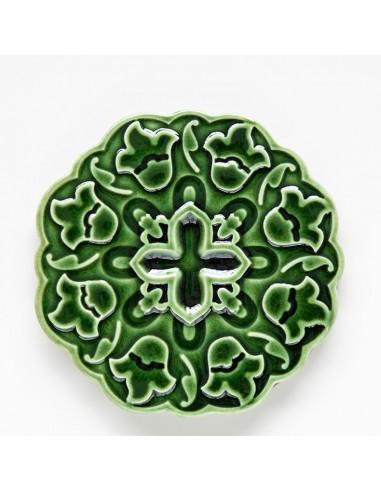 """Coaster / Kakkel """"Azulejo"""", Grøn"""