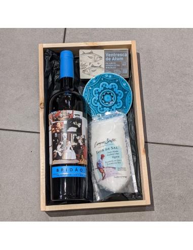 Blå Gavekurv - Vin og delikatesser