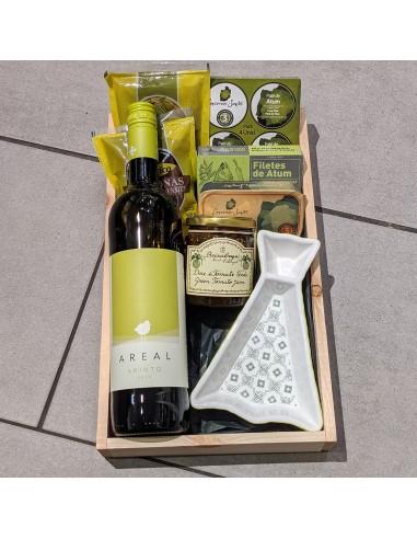 Grøn Gavekurv - Vin og delikatesser