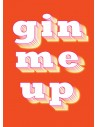 "Postkort - ""Gin me up"""
