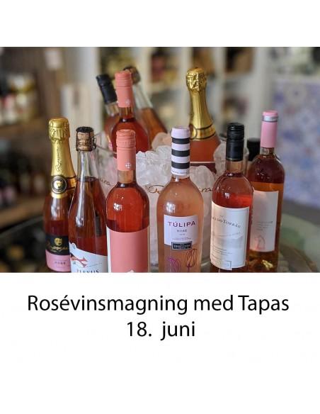 Rosé vinsmagning og tapas, Aalborg - 18. juni 2021