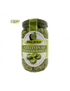 Grønne oliven i skiver