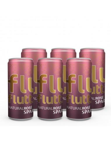 6 x Flutt Semi Sparkling Rosé - PositiveWine