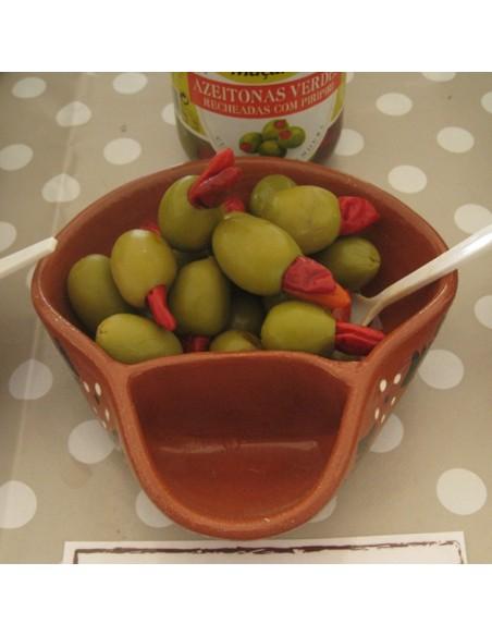 Macarico grønne oliven med hele chili