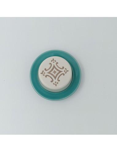Mini Smørskål, Turkis Mosaik - Duro