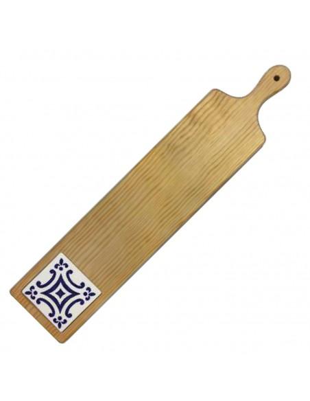 Serverings Planke i træ med kakkel, Blå Mosaik