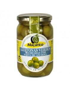 Grønne oliven med ansjoser