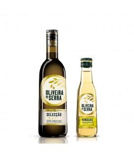 Sammen pakke med olivenolie + hvidvinseddike